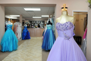 LAURA McKENZIE/Herald-Zeitung Celebrations offers both long and short prom dresses in a variety of colors and styles.